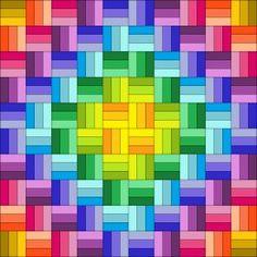 Easy rectangle quilt patterns -- pinwheels, herringbone, bricks, spirals…