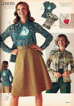 Retro Fashion, Vintage Fashion, Skater Skirt, Skirts, 1970s, Magazine, Skater Skirts, Skirt