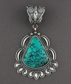 Pendant | Kirk Smith (Navajo).  Silver & Turquoise