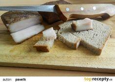 Domácí slanina recept - TopRecepty.cz Butcher Block Cutting Board, Feta, Dairy, Cheese, Cooking, Kitchen, Brewing, Cuisine, Cook