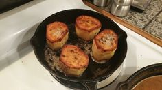 Fondant Potatoes. Bought some cast iron followed the Food Wishes recipe and made these pretty spuds! [5132x2988]