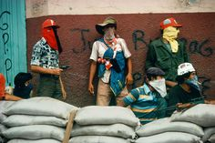 Muchachos await counterattack by the Guard, Matagalpa, Nicaragua, by Susan Meiselas. © The artist and Magnum Photos Magnum Photos, Baltimore, Nicaraguan Revolution, Carnival Dancers, Photo Exhibit, Armed Conflict, Thing 1, War Photography, Photographer Portfolio