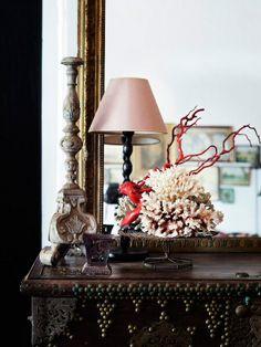Elle Decoration uk – Design & Culture by Ed Indian Interiors, Dark Interiors, Architectural Antiques, Architectural Elements, Antique Decor, Antique Furniture, Cool Tables, Elle Decor, Decorative Objects