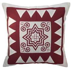Faith of Life- 18x18 Inches, Unique Hand Work, Cotton Decorative Pillow Cover. (Maroon) Exotique Imports,http://www.amazon.com/dp/B00HXXD2ZM/ref=cm_sw_r_pi_dp_SF--sb19C3XMC7MF