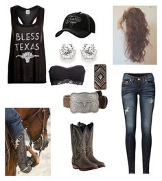 """""""Up from San Antone"""" by babyinblue on Polyvore featuring Somedays Lovin, H&M, Laredo, Justin Boots, Ariat, M&F Western, Free People and True Religion"""