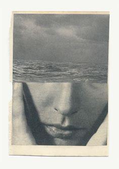 Katrien de Blauwer >>> Grief, except the waves are bigger. Photomontage, Art Du Collage, Art Collages, Graphisches Design, Grafik Design, Belle Photo, Art Inspo, Art Photography, Illustration Art