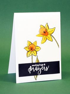 #SSS #SSSFAVE Simon Says Stamp Friendship blooms stampset. Stamped with StazOn on Hotpressed smooth watercolor paper 140lbs (Schut 300grams) and watercolored with Distress inks (mustard seed, peeled paint and cerved pumpkin) Sentiment also from SSS friendship blooms, white heat embossing.