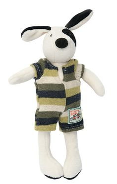 Tiny Julius: Julius, in the range of la Grande Famille is a soft and cuddly dog - Moulin Roty La Grande Famille