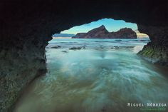 Taken from inside a rock, at Calheta Beach, Porto Santo Island