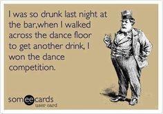 I was so drunk last night...