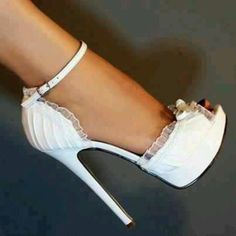 Don't do white shoes but beautiful with a wedding dress.