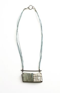 "Tova Lund, ""Striation"", jewelry, metals, mixed media, Tin, Steel, Paint, Jewelry, Copper, Silver.  http://www.tovalund.com"