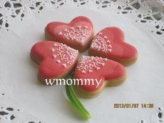 Ombre hearts flower バレンタインアイシングクッキークローバー♫の画像 | アイシングクッキー大好きwmommyのブログ