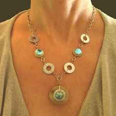 Button & Washer Necklace