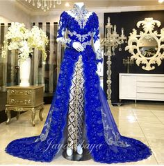 wedding dress kebaya modern blue 2016