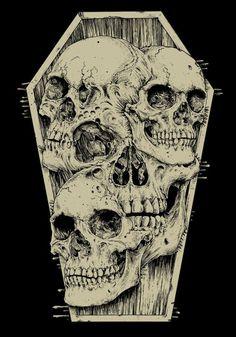 Skull by Raf The Might Arte Horror, Horror Art, Estilo Heavy Metal, Dibujos Dark, Badass Skulls, 4 Tattoo, Satanic Art, Skull Illustration, Skull Artwork