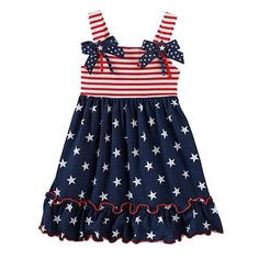 Sophie Rose Stars & Stripes Dress - Toddler Girl