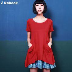 【JDaheck】獨家豔紅圓弧魚尾風格俏麗洋裝 - Yahoo!奇摩購物中心