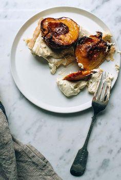 Roasted peach tart