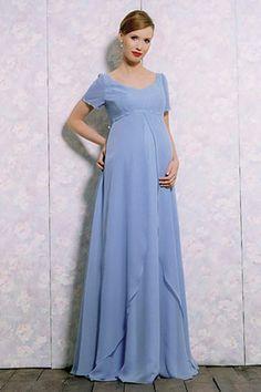 Short sleeveless A-line chiffon bridesmaid dress