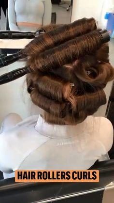 Hot Hair Styles, Curly Hair Styles, Natural Hair Styles, Messy Hairstyles, Pretty Hairstyles, Hair Curling Tips, Roller Curls, New Hair Do, Goddess Hairstyles