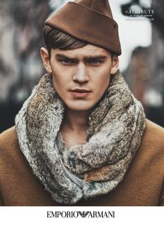 Emporio Armani enlists Swedish model Bo Develius to star in its fall-winter 2015 advertising campaign. Evoking a sense of street style, Bo is photographed outdoors as he poses for the lens of fashion photographer Lachlan Bailey