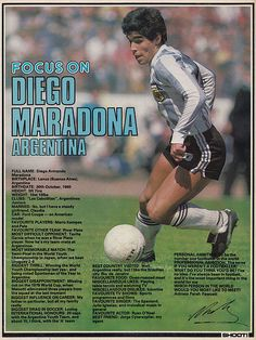 Focus On Diego Maradona of Argentina with Shoot! magazine in June Legends Football, Football Icon, Football Gif, Football Design, World Football, Nike Football, Argentina Team, Argentina Football, Good Soccer Players