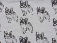 Papillon Puppy Fabric