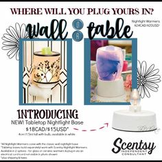 Scentsy NEW Fall/Winter 2016 Tabletop Nightlight Bases Flyer By: Brittany McKee (Gerrity)  www.brittanygerrity.scentsy.ca Admin Of: No-Nonsense Canadian Flyers Sharing Group on Facebook