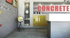 Concrete Effect Porcelain Tiles.....Get The Industrial Look.....