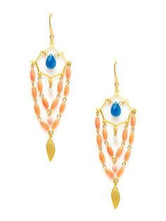 Multicolor Geometric Shape Drop Earrings by David Aubrey on Gilt.com