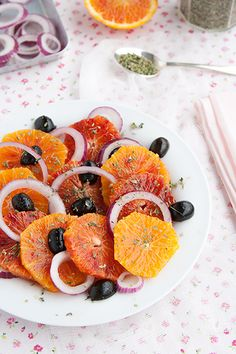 A salad of oranges - http://www.diypinterest.com/a-salad-of-oranges/