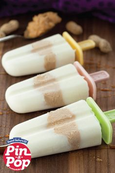 Peanut Butter Honey Greek Yogurt Pops by Wishes and Dishes