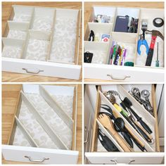 Get your kitchen drawers organized with these easy DIY drawer dividers. Remember - If I can do it, you can do it!!
