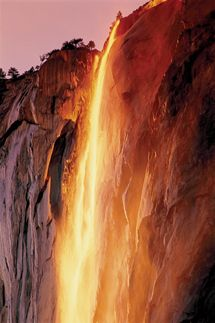 a waterfall that looks like lava!!!!!!!