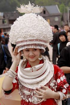 Miao is one of Chinese Minorities. People of Miao like silver and tend to wear many silver accessories in their festival costume.