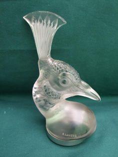 Lalique peacock car mascot