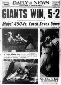 Image result for 1954 baseball world series