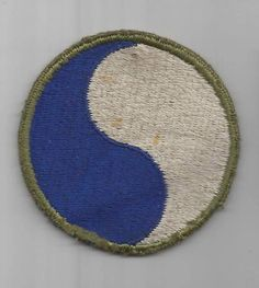 WW2 US Army 29th Infantry Division Patch Greenback Inv# F310
