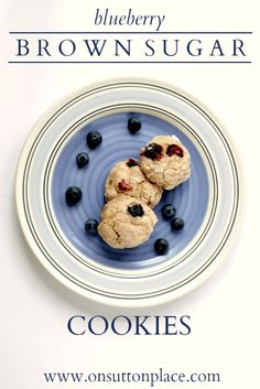Sweet and full of texture, these blueberry brown sugar cookies make the perfect snack or breakfast!