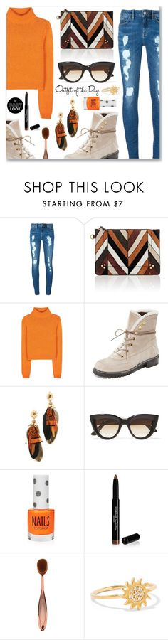 """""""Outfit of the Day"""" by dressedbyrose ❤ liked on Polyvore featuring Tommy Hilfiger, Jérôme Dreyfuss, Acne Studios, Stuart Weitzman, Gas Bijoux, E L L E R Y, Topshop, Givenchy, Aamaya by Priyanka and Petit Bateau"""