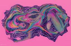 Creative inspiration, painting & drawing, artsy fartsy, trippy, art ins Arte Alien, Arte Sketchbook, Art Hoe, Foto Art, Hippie Art, Psychedelic Art, Pretty Art, Aesthetic Art, Collage Art