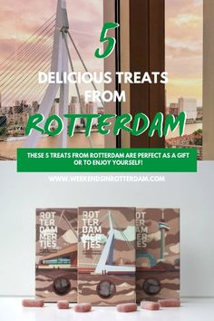 Are you looking for real Rotterdam products? In this handy article you can find 5 delicious treats from Rotterdam. Nice to give, buy for yourself or to receive! From Rotterdam sweets, chocolate and cookies to real cheese from Europe On A Budget, Budget Travel, Rotterdam, City Farm, Cool Packaging, Getting Hungry, Tourist Information, Famous Landmarks, Best Cities