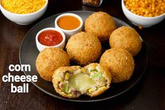 corn cheese balls recipe, how to make sweet corn & veg cheese balls with step by step photo/video. veg & cheese-based snack known for its cheese burst. Veg Cheese Balls Recipe, Cheese Ball Recipes, Aaloo Recipe, Chaat Recipe, Momos Recipe, Sweet Corn Recipes, Snack Recipes, Cooking Recipes, Healthy Recipes