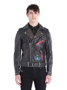Diesel L SNEH Leather Jackets - Diesel Official Online Store