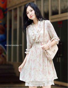 Übergröße Kleid mit Lace dekoriert Rosa-US$ 14.86 (€ 11,29)-Großhandelspreisen bei Rock-kleidung.com