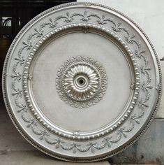Antique Gray Ceiling Medallion - World of Decor Hollow Wall Anchors, Open Ceiling, Coffer, Ceiling Medallions, Baroque Fashion, Architectural Elements, Custom Homes, Home Furnishings, Decorative Plates