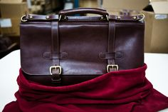 A Lotuff English Briefcase about to ship out of the workshop.