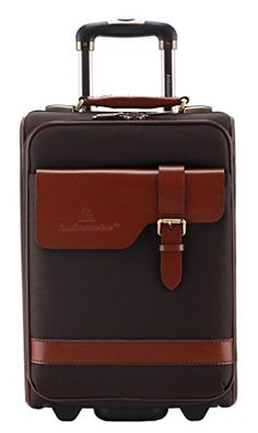 Ambassador Luggage Classic Vintage Top Grain Leather Suitcase 20 Carry on Brown ** Learn more by visiting the image link.