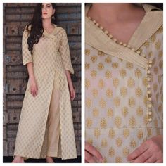 41 Latest neck designs for kurtis with collar Stylish collar neck patterns Bling Sparkle Kurti Sleeves Design, Sleeves Designs For Dresses, Kurta Neck Design, Neck Designs For Suits, Neckline Designs, Dress Neck Designs, Collar Kurti Design, Salwar Designs, Silk Kurti Designs